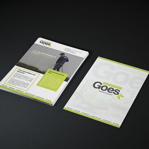 Een ontwerp voor een flyer voor Hoveniersbedrijf Goes