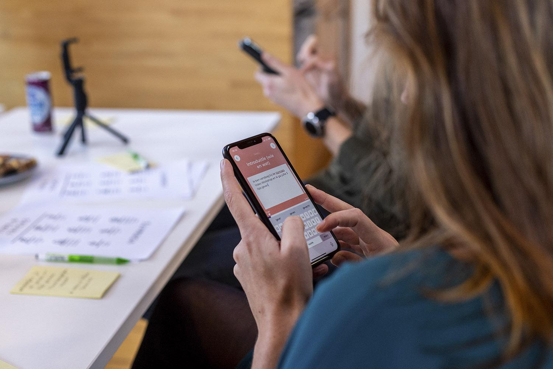 Entering text in video app Vormats